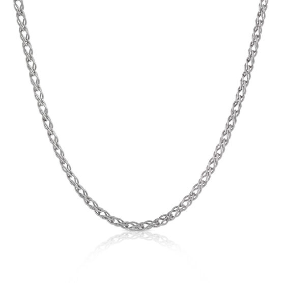 """Double Curb Link Chain 14K, 18"""""""