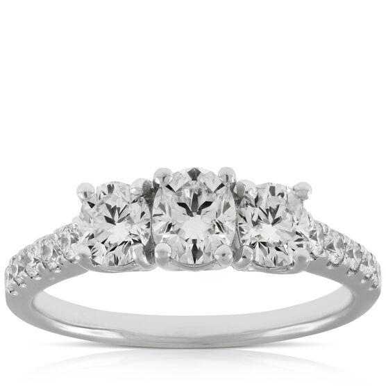 Signature Forevermark Black Label Triple Oval Diamond Ring 18K