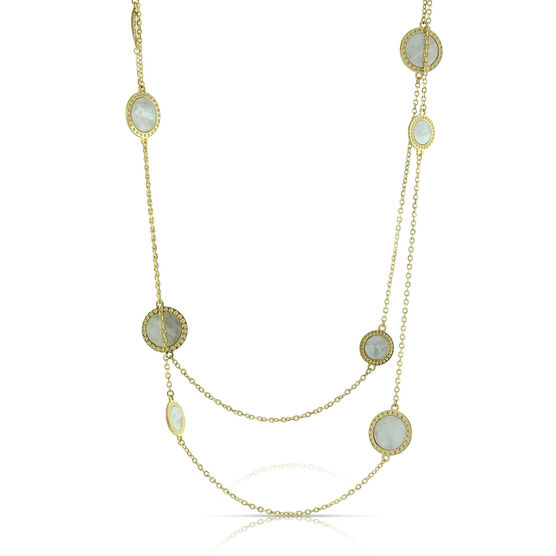 Toscano Mother of Pearl Necklace 14K, 32""