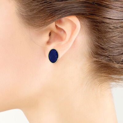Lisa Bridge Lapis Earrings 14K