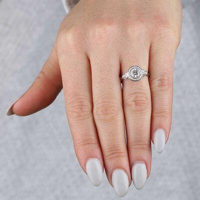 Bezel Set Diamond Ring 14K