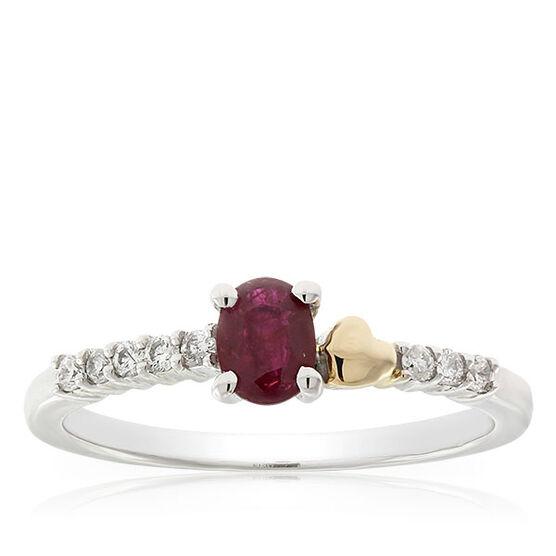 Eternal Valentine Ruby & Diamond Ring 14K