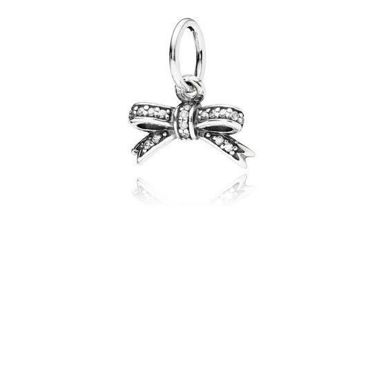 PANDORA Sparkling Bow CZ Pendant
