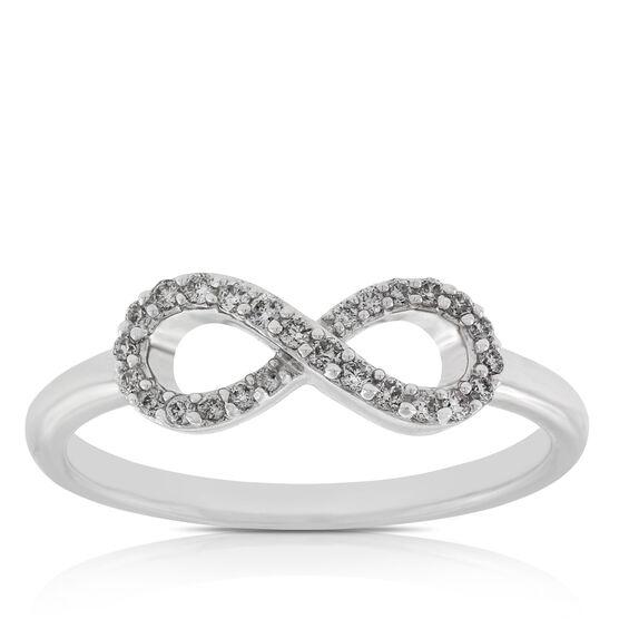 Infinity Diamond Ring 14K