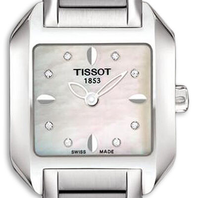 Tissot T-Wave Mother-of-Pearl Diamond Watch