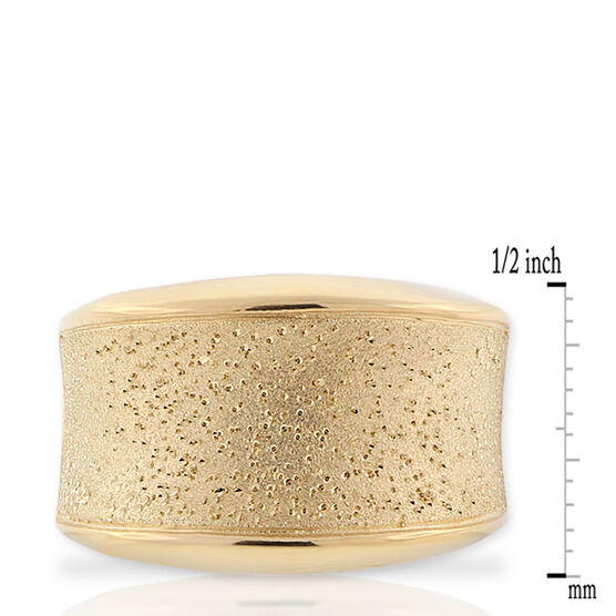 Concave Ring, 18K over Sterling Silver