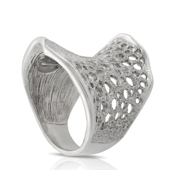 Honeycomb Ring in Sterling Silver