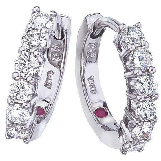 Roberto Coin Diamond Hoop Earrings 18K