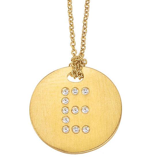 Roberto Coin Diamond Initial Pendant 18K Letter 'E'