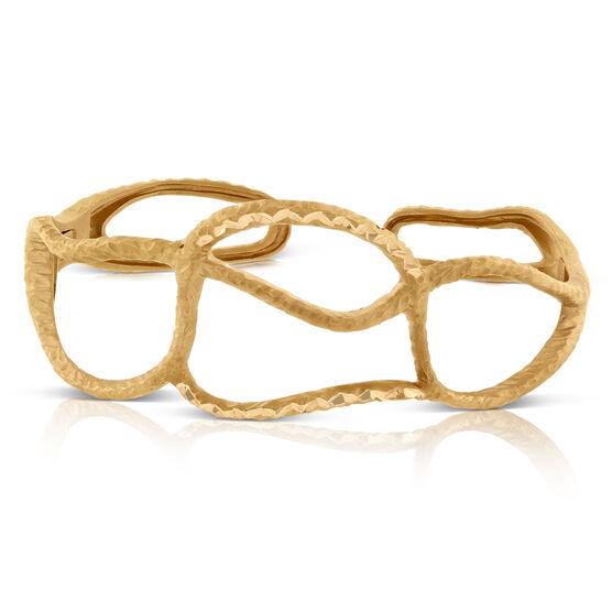 Rose Gold Toscano Open Cuff Bracelet 18K