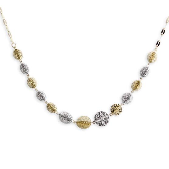 Interlocking Circles Necklace 14K
