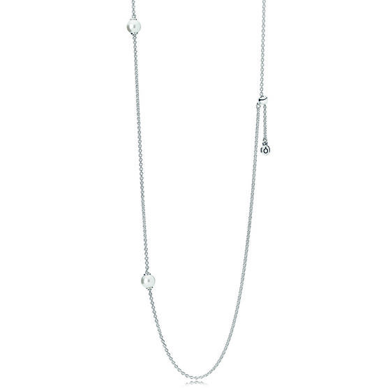 PANDORA Luminous Dainty Droplets,  Crystal Pearl Necklace
