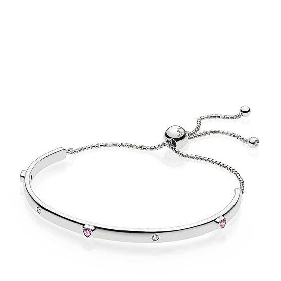 PANDORA Explosion of Love CZ Bolo Bracelet