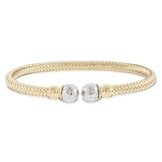 Toscano Woven Cuff Two-Tone Bracelet 14K