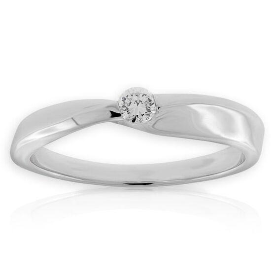 Petite Diamond Ring 14K