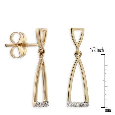 Diamond Dangle Earrings 14K