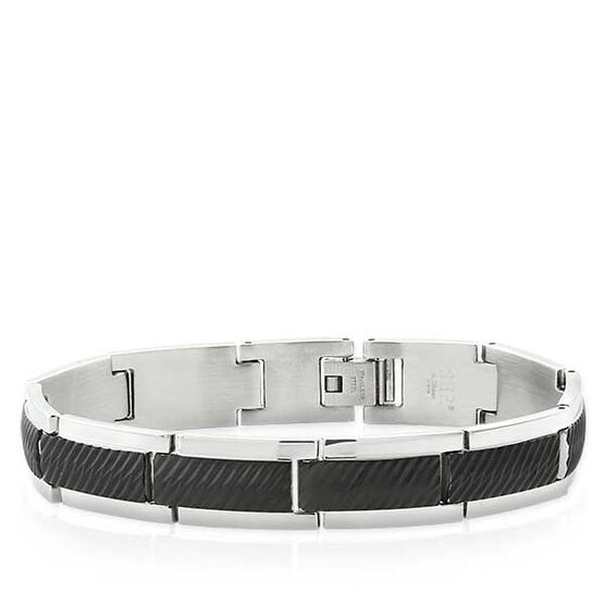 Diagonal Cut Bracelet in Stainless Steel