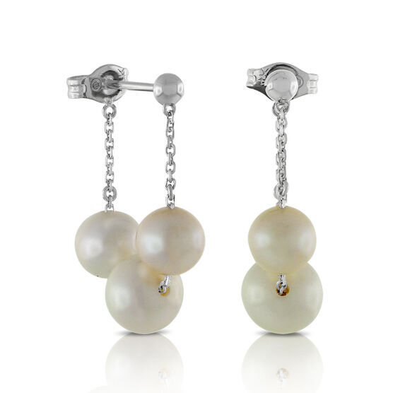 Freshwater Cultured Pearl Hoop Earrings 14K