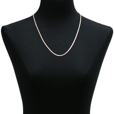 Diamond Cut Curb Necklace 14K
