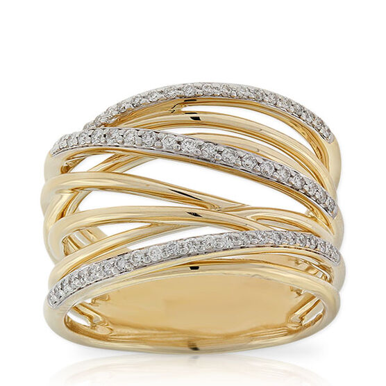 Multi Band Diamond Ring 14K Ben Bridge Jeweler