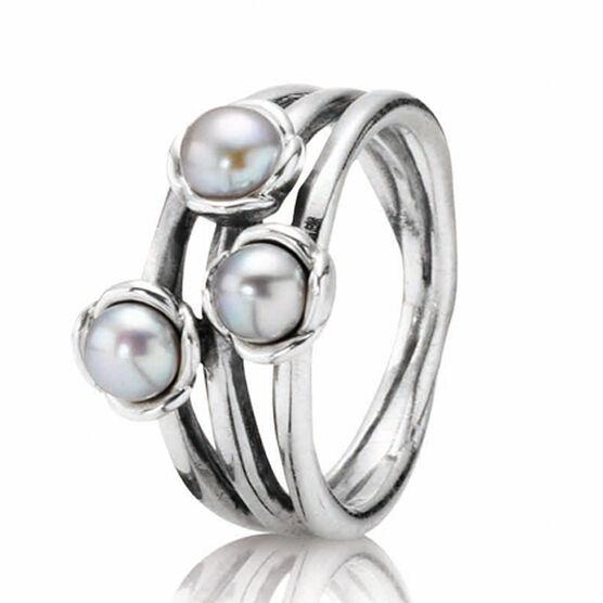 PANDORA Triple Bloom Ring