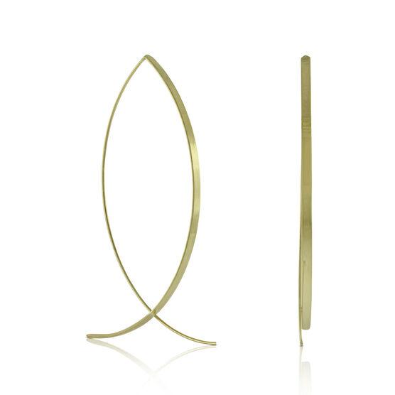 Ribbon Threader Earrings 14K