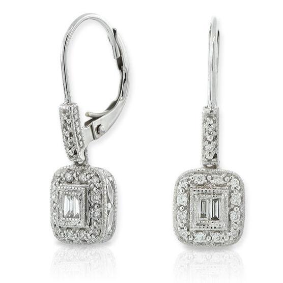 Diamond Eurowire Earrings 14K