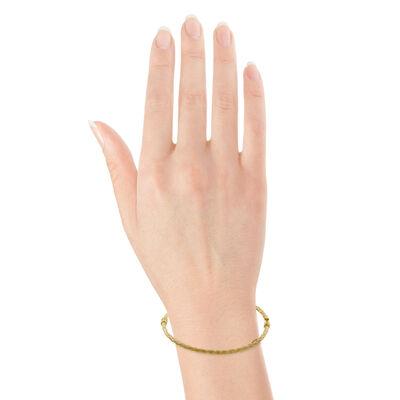 Toscano Satin Braid Bangle Bracelet 14K