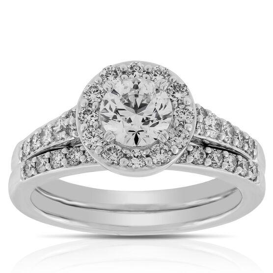 Halo Diamond Bridal Set 14K