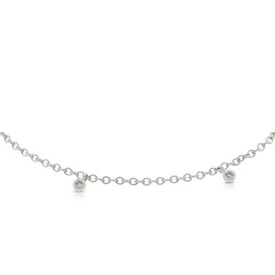 Diamond Dangle Bracelet 14K