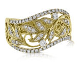 Filigree Floral Diamond Ring 14K