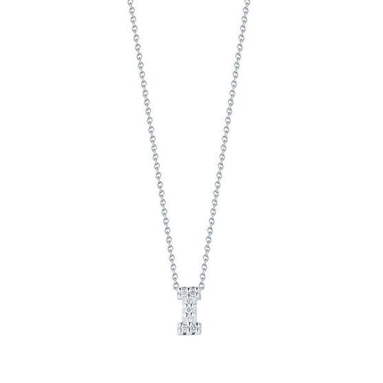Roberto Coin Diamond Initial Pendant 18K Letter 'I'