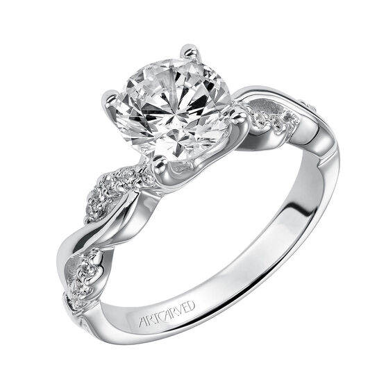 ArtCarved Gabriella Diamond Semi-Mount Ring 14K