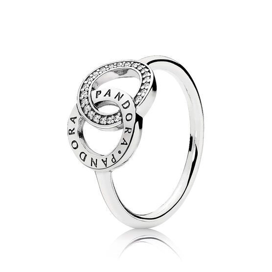 PANDORA Circles Ring, Clear CZ