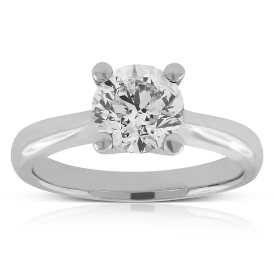 Diamond Solitaire Ring 14K, 1 & 1/2 ct.