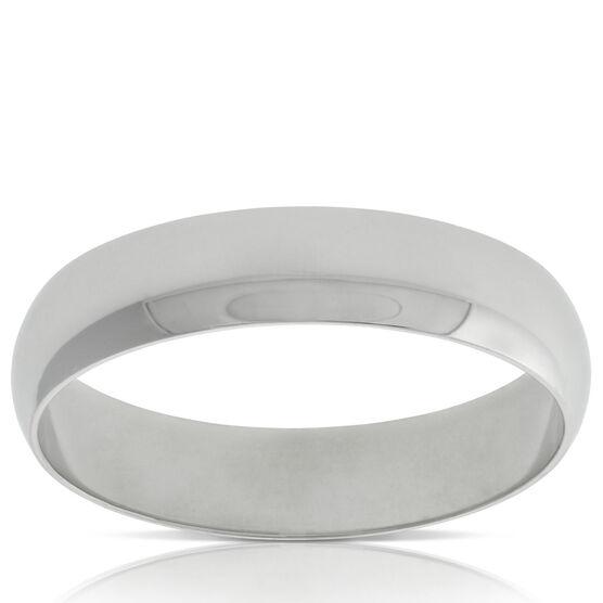 Men's Wedding Band in Platinum, Size 10
