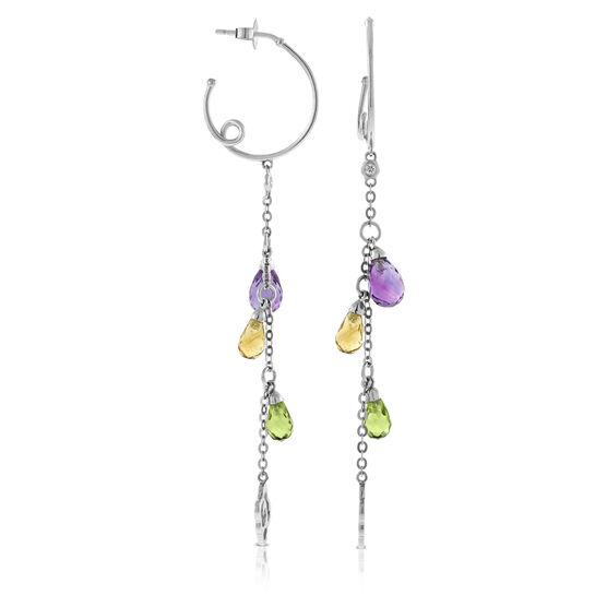 Gemstone Dangle Earrings 14K