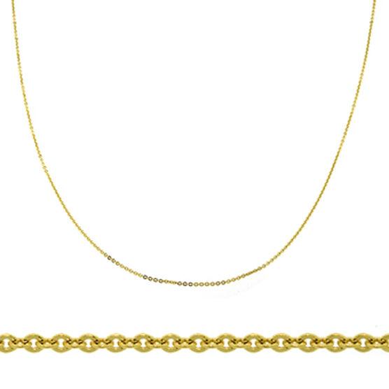 """Diamond Cut Rolo Cable Chain 14K, 18"""""""