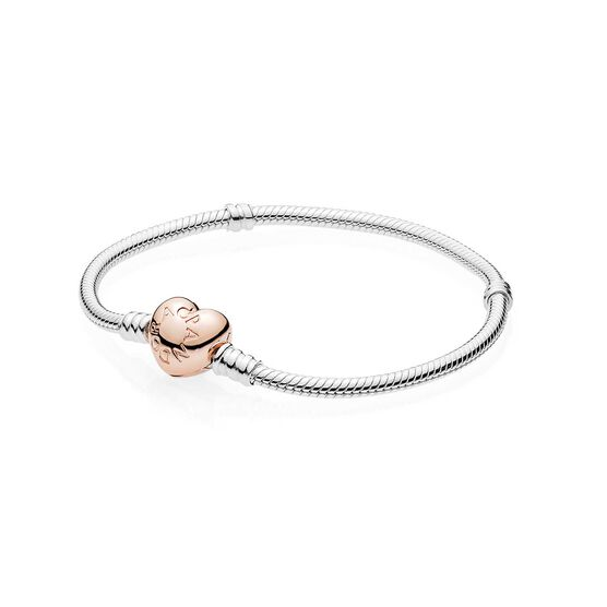 PANDORA Rose™   Heart Clasp Silver  Bracelet
