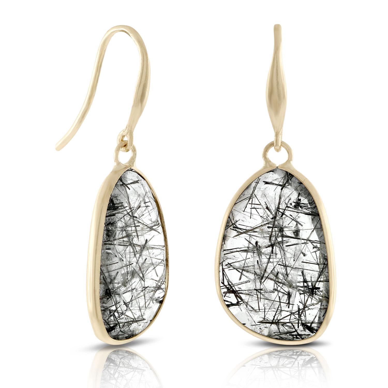 Lisa Bridge Rutilated Quartz Earrings 14k Ben Bridge Jeweler