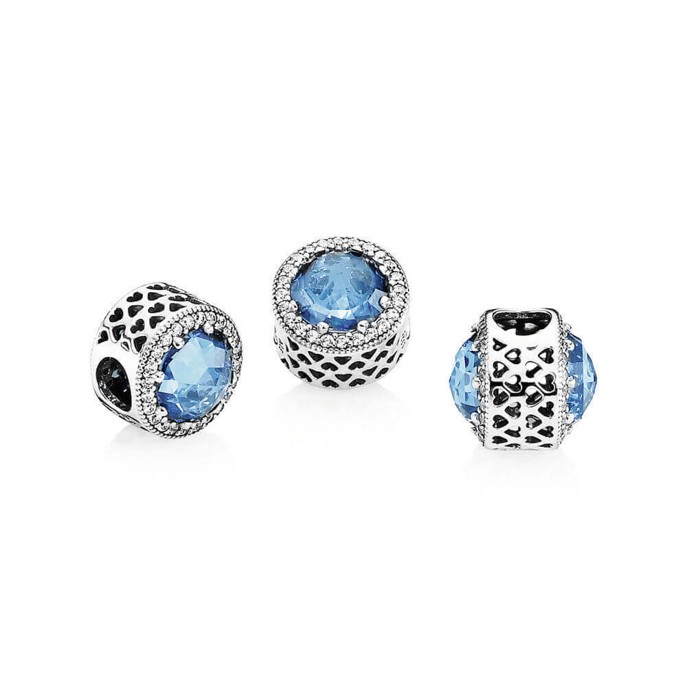 Pandora Blue Radiant Hearts Charm 791725nbs Ben Bridge