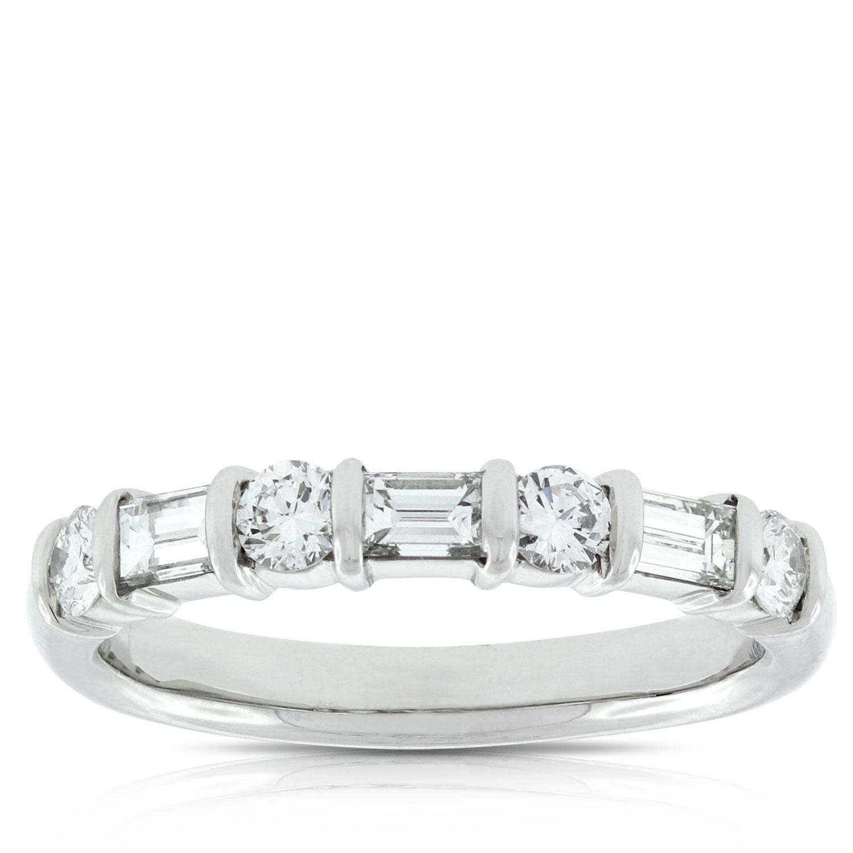 Baguette Diamond Wedding Ring in Yellow Gold (1/2 ctw)