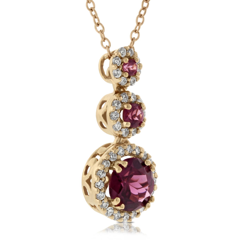 Rose Gold Rhodolite Garnet Pendant 14k Ben Bridge Jeweler