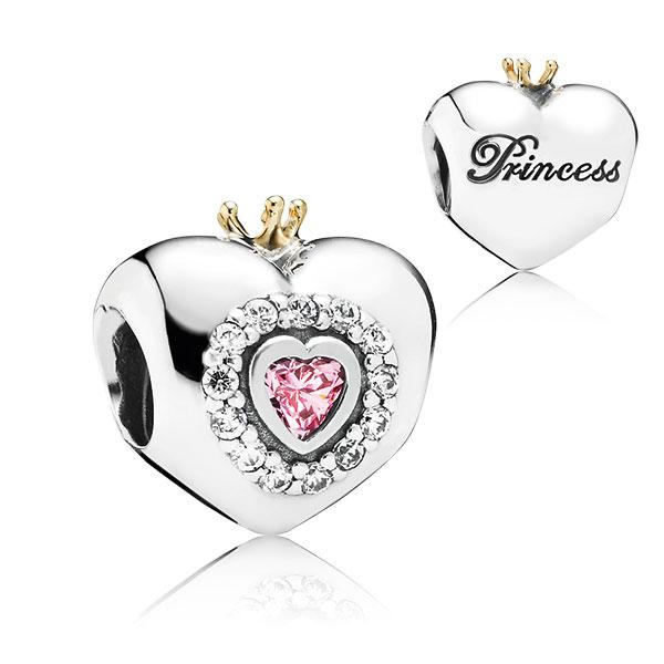 Pandora Princess Heart Charm Silver Amp 14k 791375pcz