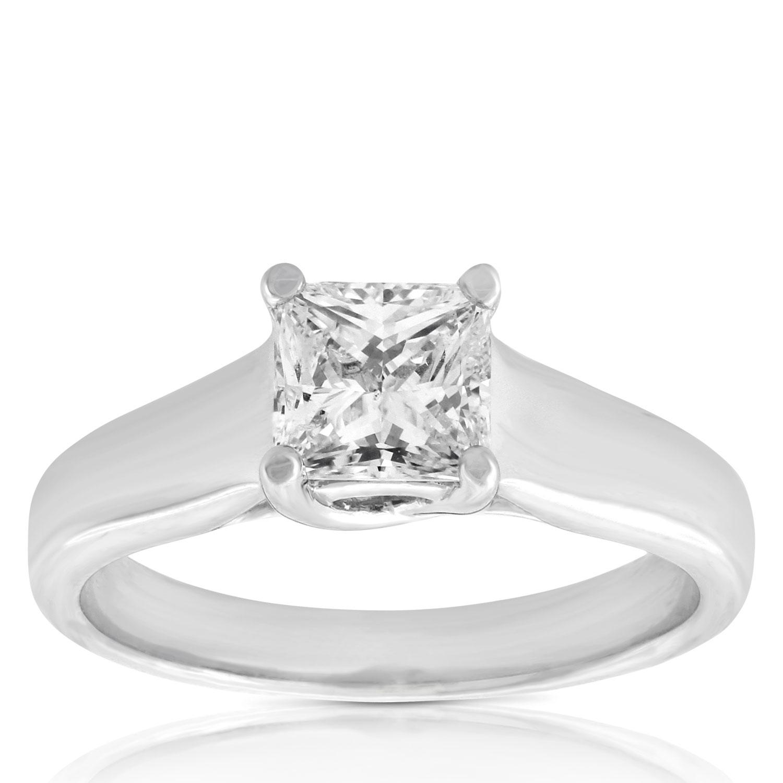 Ikuma Canadian Princess Cut Diamond Solitaire Ring 14K, 1