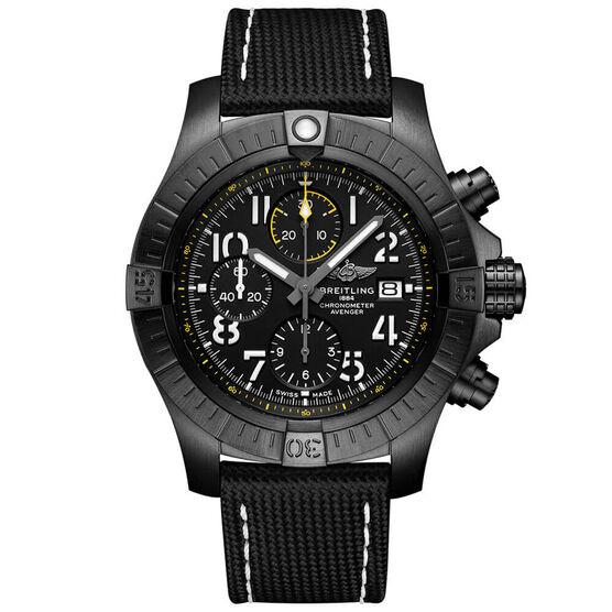 Breitling Avenger Chrono 45 Night Mission Titanium Watch, 45mm