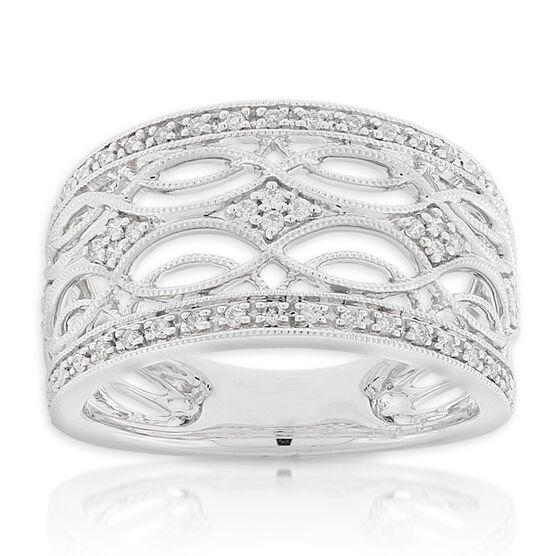 Filigree Diamond Ring 14K