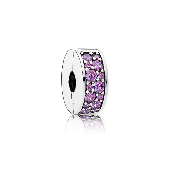 PANDORA Fancy Purple Shining Elegance Clip