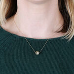 Faceted Ball Pendant Necklace 14K
