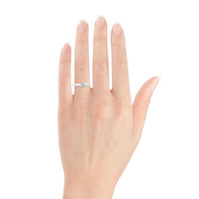 Ikuma Canadian Princess Cut Diamond Solitaire Ring 14K, 1/3 ct.